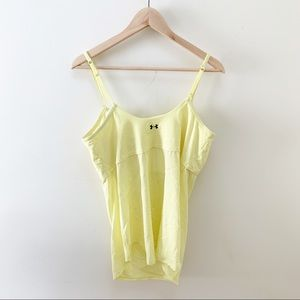 Under Armour yellow athletic tank top L